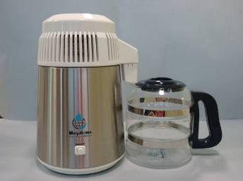 Destilator - inox sa bijelim poklopcem